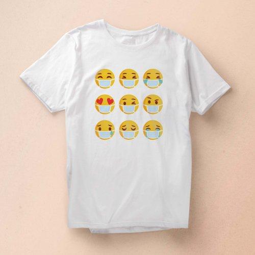 Quarantine Emoji T-shirt Design