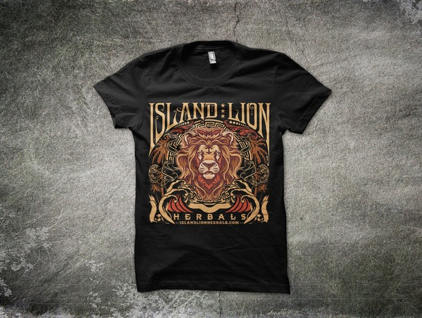 Island Lion T-shirt Design