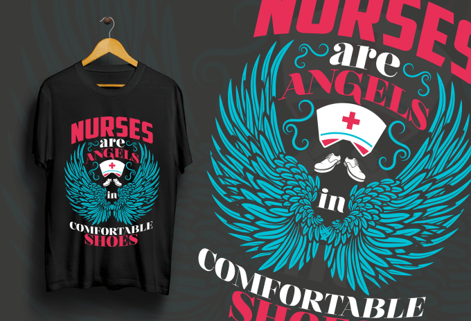 Nurses are angels T-shirt